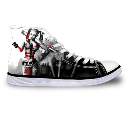 f6faa4e67f08a0 Canvas Shoes For Women Men H Shoes Harley Quinn Size 35-45 – YOYO