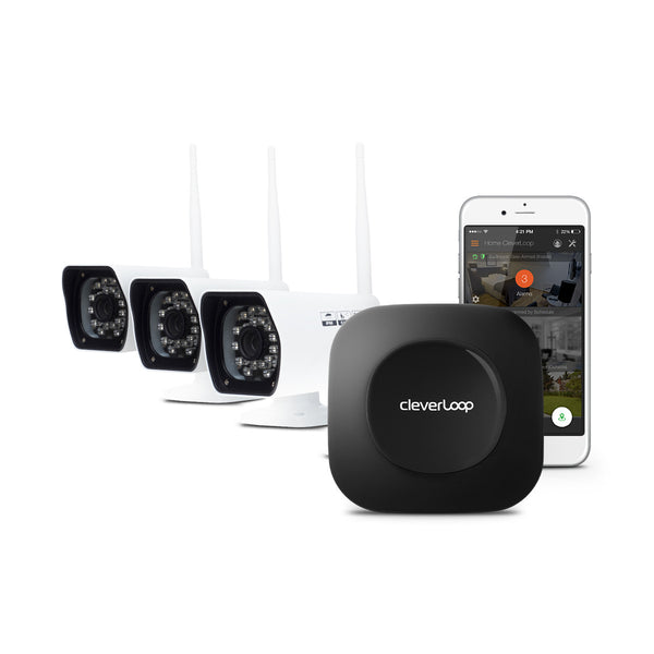 CleverLoop Security System with 3 Cameras
