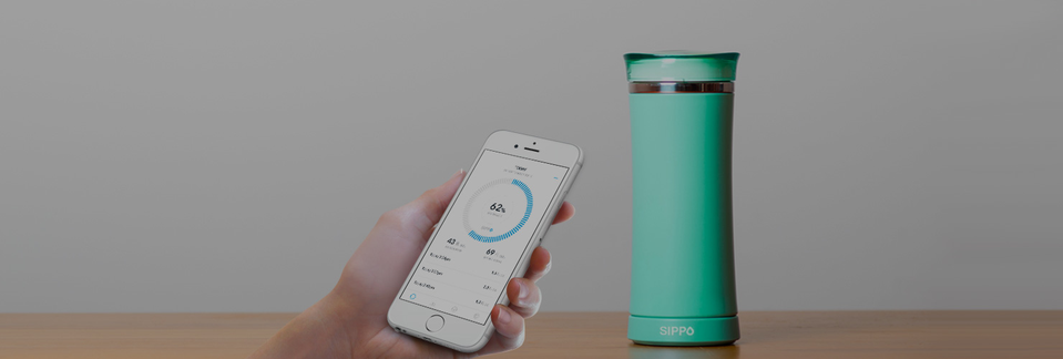 A smart way for busypeople to stay hydrated.