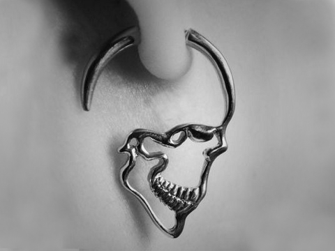 Jack Inspired Skull Ear Plugs (Pair 2 pcs)  - 50% OFF + FREE SHIPPING!