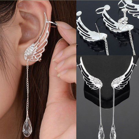 ANGEL WINGS CRYSTAL DROP EARRINGS - 75% OFF + FREE SHIPPING