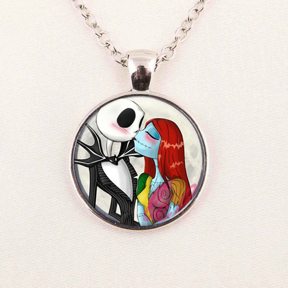 Cool Nightmare Before Christmas Gifts: Jack & Sally Necklace
