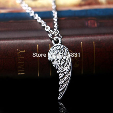 Angel Wing Vintage Choker Chain Collar Pendant Necklace