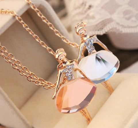 BALLET GIRL PENDANT NECKLACE - 70% OFF + FREE SHIPPING