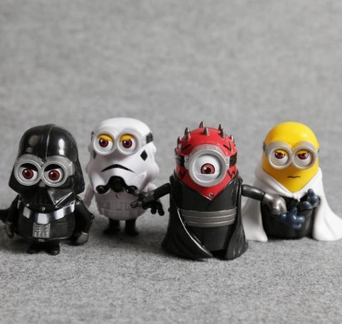 MINIONS COSPLAY STAR WARS FIGURES 4PCS - 50% OFF + FREE SHIPPING