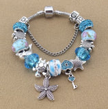 Blue Starfish/Sea Turtle Bracelet - 70% OFF + FREE SHIPPING