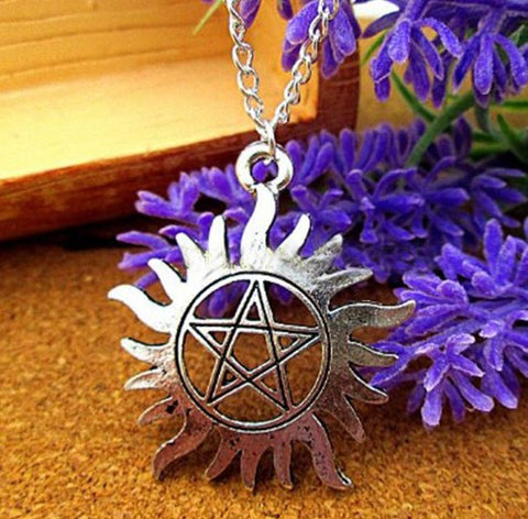 Supernatural Silver Tone Necklace