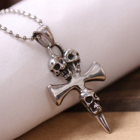 Skull Cross Biker Necklace - 70% OFF + FREE SHIPPING