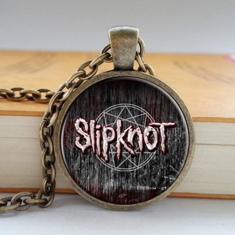 SLIPKNOT LOGO PENDANT RETRO NECKLACE