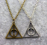Harry Potter Triangle Deathly Hallows Necklace