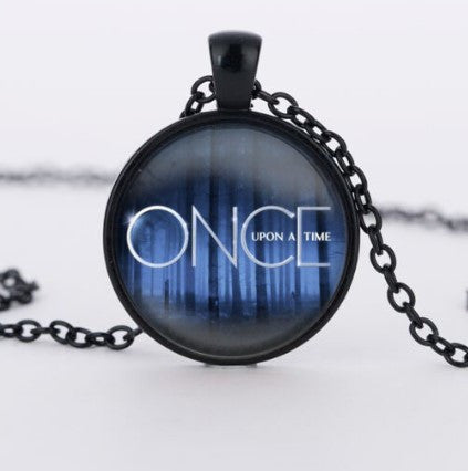 Once Upon A Time Glass Pendant Necklace