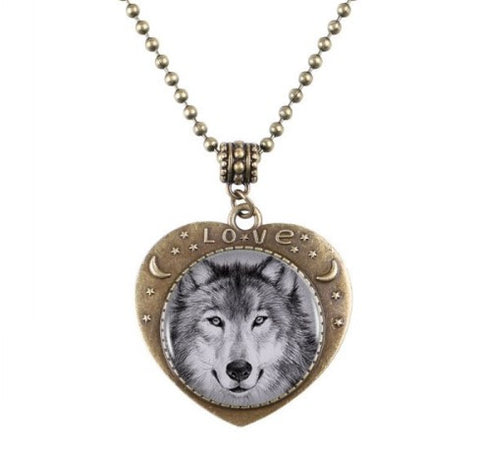 Wolf Heart Necklace - 50% OFF + FREE SHIPPING