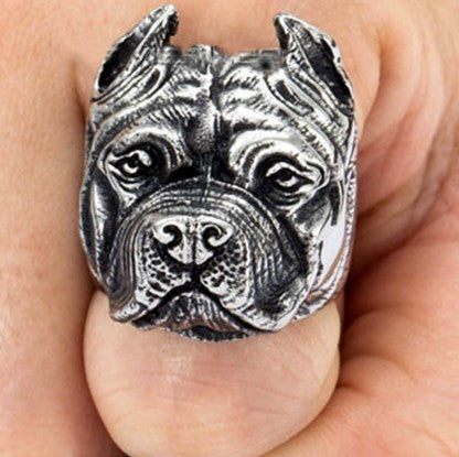 Stainless Steel Pitbull Ring - 60% OFF + FREE SHIPPING