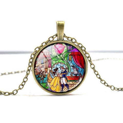 Beauty and the Beast Rose Necklace - 50% OFF + FREE SHIPPING