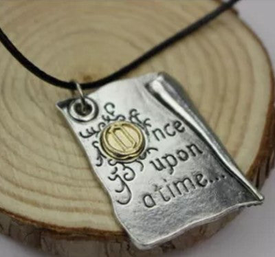 OUAT BOOK PAGE INSPIRED NECKLACE