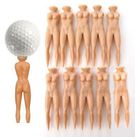 Golf Nude Lady Tee 10pcs Set
