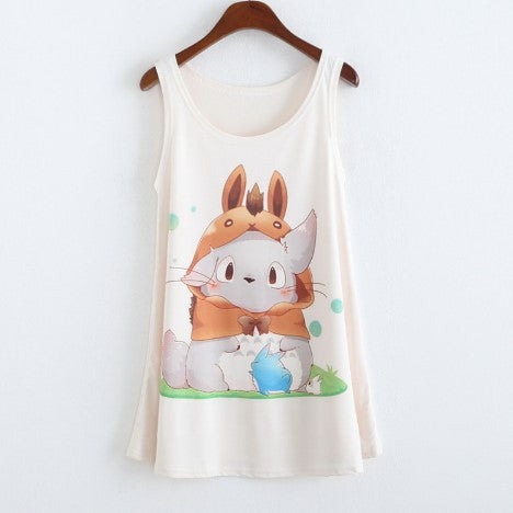 Totoro Sleevless Shirt - 50% OFF + FREE SHIPPING