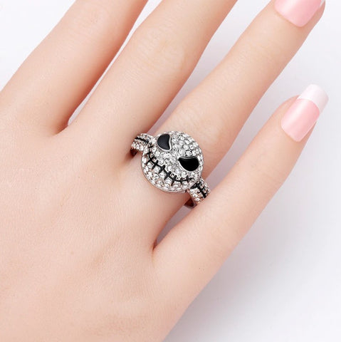 Special Jack Crystal Silver Ring
