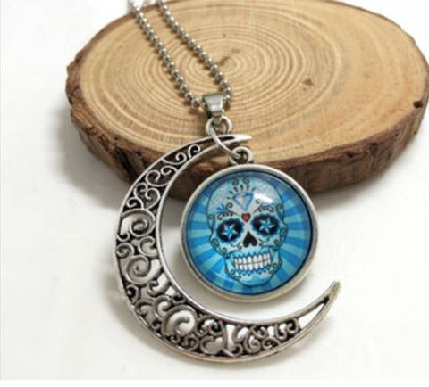 Sugar Skull Moon Necklace - 60% OFF + FREE SHIPPING