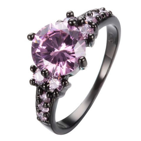 Steampunk Pink Sapphire Ring