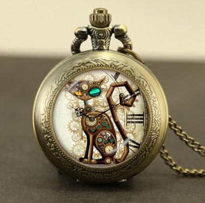 Steampunk Cat Pocket Watch - 60% OFF + FREE SHIPPING