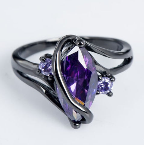 Black Eternal Essence Purple Gem Ring - 60% OFF + FREE SHIPPING