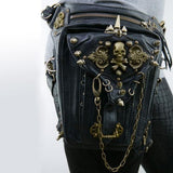 Skull Rocker Leather Waist and Holster Bag - 50% OFF + FREE SHIPPING