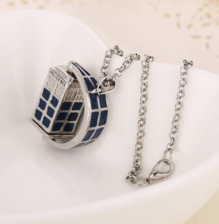Doctor Who Rotating Police Box Necklace - 60% OFF + FREE SHIPPING
