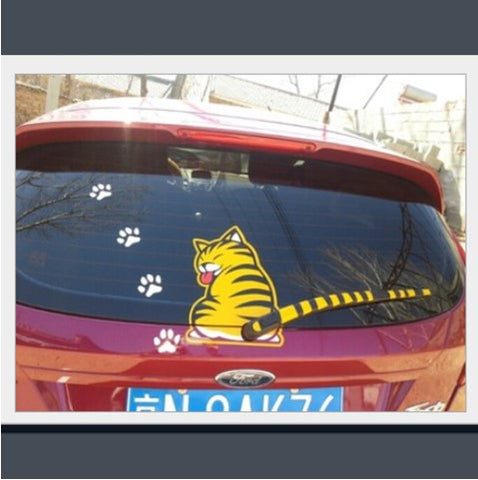 REAR WIPER CAT DECAL