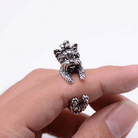 Stylish Yorkie Ring