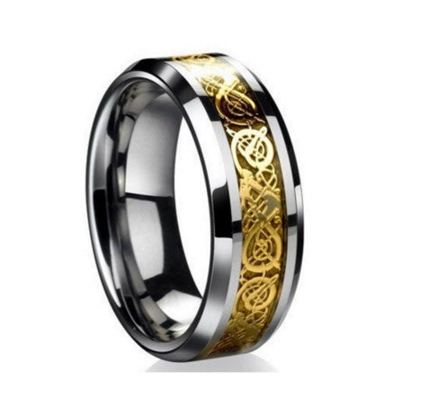 Tungsten Steel Unisex Dragon Ring