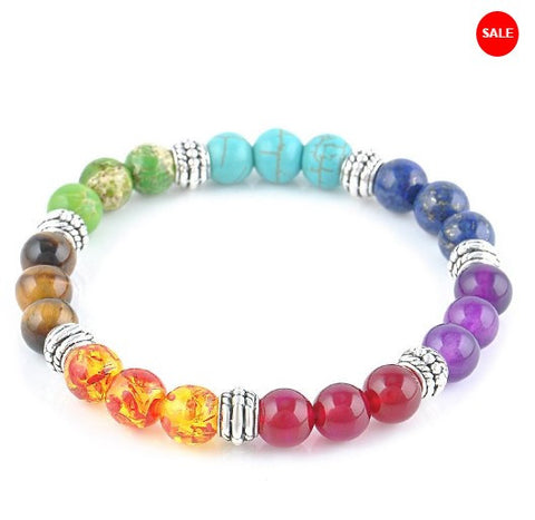 7 Chakra Healing Reiki Prayer Gemstone Bracelet - 50% OFF + FREE SHIPPING