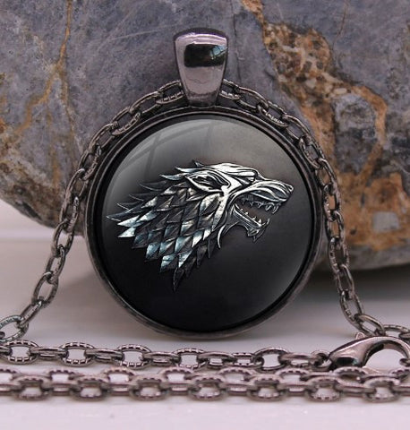 Game of Thrones Black Wolf Necklace