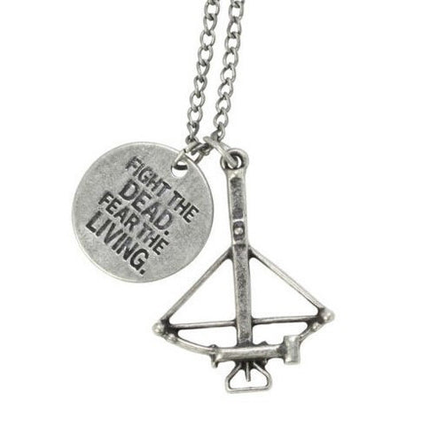 Fight The Dead Fear The Living Necklace - 60% OFF + FREE SHIPPING