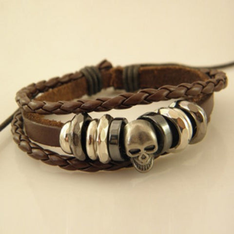 Jack Inspired Skull Leather Bracelet - 50% OFF+ FREE SHIPPING