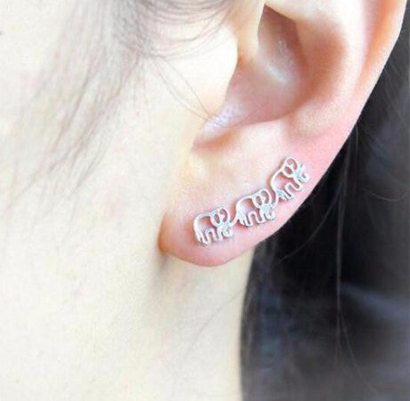 Elephant Pin Earrings - 50% OFF + FREE SHIPPING