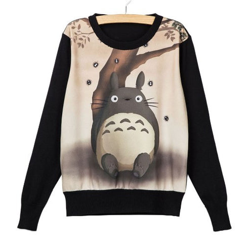MY NEIGHBOR TOTORO BLACK SWEATSHIRT - 50% OFF + FREE SHIPPING