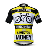 This One Runs On Fat Cycling Jersey