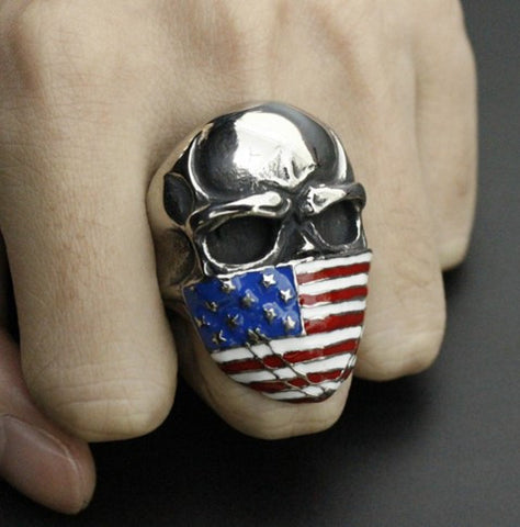AMERICAN INFIDEL SKULL RING - 60% OFF + FREE SHIPPING