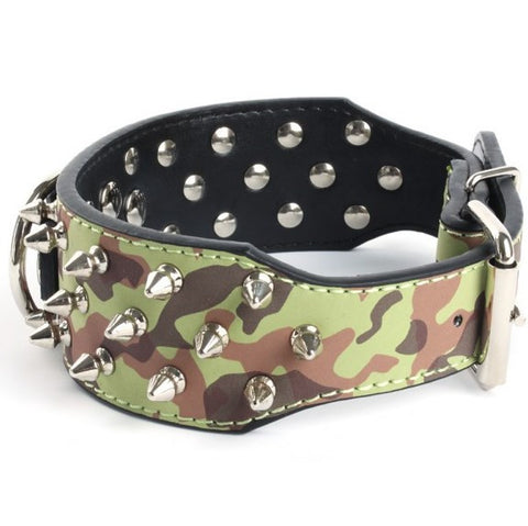 New Spiked  Leather Durable Pitbull Mastiff Collar