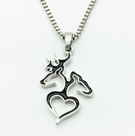 DEER LOVE NECKLACE BLACK