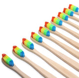 Colorful Head Bamboo Handle Toothbrush