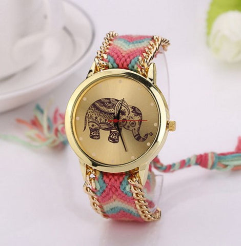 Elephant Rope Band Bracelet Watch - 50% OFF + FREE SHIPPING !
