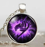Fairy Tail Guild Marks Purple Wing Necklace