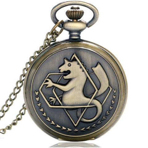 Fullmetal Alchemist Bronze Pocket Watch - 60% OFF + FREE SHIPPING