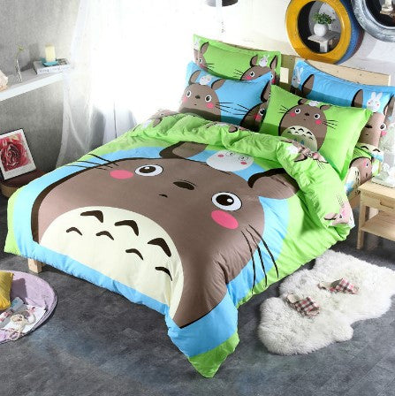 MY NEIGHBOR TOTORO GREY BEDDING SET - 50% OFF + FREE SHIPPING
