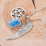 Angel Wing Supernatural Bottle Guardian Necklace