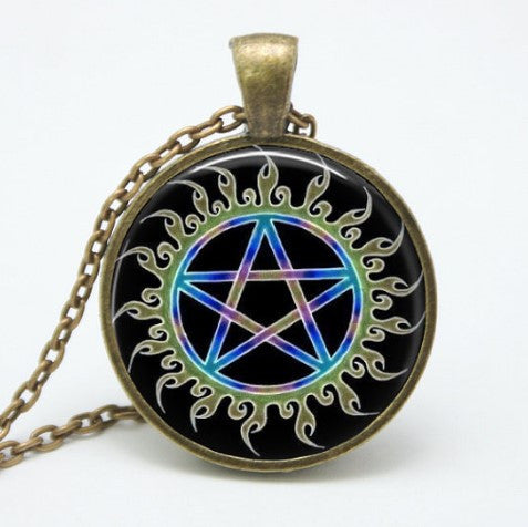 Supernatural Vintage Pentagram Necklace