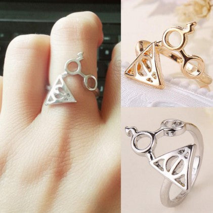 HARRY POTTER DEATH ARTIFACT RING (ADJUSTABLE)