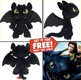 HOW TO TRAIN YOUR DRAGON PLUSH DOLL - 60% OFF + FREE SHIPPING